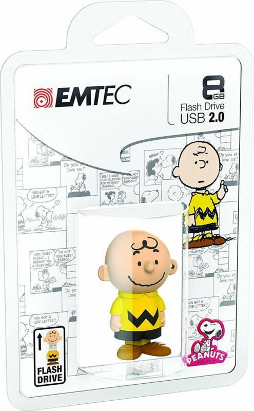 EMTEC Charlie Brown 8GB USB 2.0 Type A Flash Drive Yellow ECMMD8GPN101