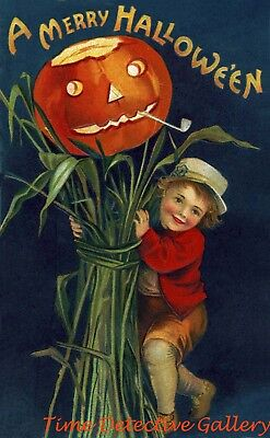 Vintage Halloween Graphic Print #22 - Available in 4 - Vintage Halloween Graphics