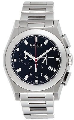 GUCCI Quartz Pantheon Black Dial Date Chronograph Men