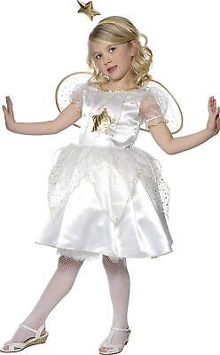 Smiffy Engel Kostüm (Smiffys Sternen Fee - Weihnachtsengel - Mädchenkostüm , Gr.L (10-12 Jahre))