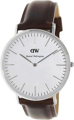 Daniel Wellington Men's Bristol 0209DW Brown Leather Quartz Fashion Watch