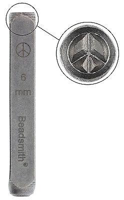 Design Stamp, Peace Sign (6mm)
