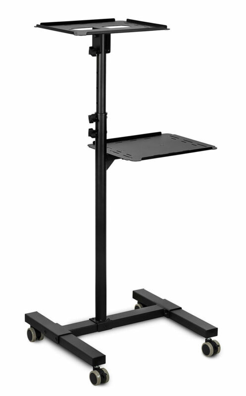 Mount-It! Mobile Projector Stand, Rolling Height Adj Laptop and Projector Stand