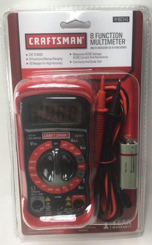 Craftsman 8 Function Multimeter 3482141
