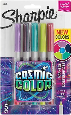 Sharpie Permanent Markers Ultra Fine Point Cosmic Color 5 Count Limited Edition