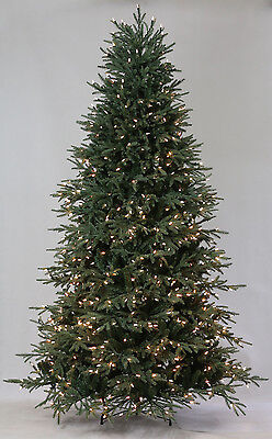7.5' Lake Shore Blue Spruce Artificial Christmas Tree with Clear LED Lights ()
