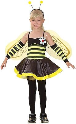 Girls 4 Piece Bumble Bee Mini Beast Book Day Fancy Dress Costume Outfit 4-12yrs ()