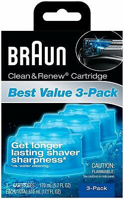 Braun Clean and Renew 3 Cartridges Pack-Refills-CCR-Series 3 5 7 9 Shaver