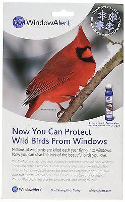 Window Alert 4 Snowflake Decals Protect Wild Birds