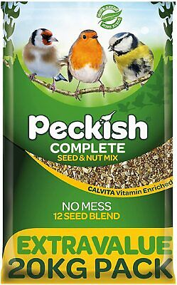 Peckish Complete Seed & Nut No Mess Wild Bird Food All Season 12 Seed Blend 20kg