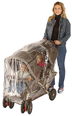 Jeep Tandem Stroller Weather Shield Will Fit Most Tandem Twin Strollers!!