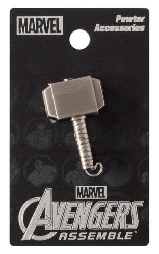 "THOR ""MJOLNIR PEWTER LAPEL PIN"" Marvel Comics Thor Hammer NEW IN PACKAGE"
