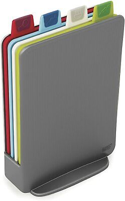 Joseph Joseph Index Chopping Board Set, Mini - Graphite, Set of 4 + Storage Case