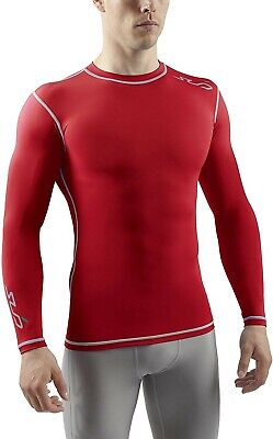 Sub Sports All Season Men's Compression Base Layer Long Sleeve Top (red) Small Season Long Sleeve Top