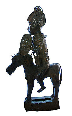 Statue Royal Oba on His/Her Horse Beni Edo Bronze African Rider 30 kg No No 7