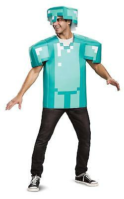 Mine Craft Halloween Costumes (Minecraft Armor Classic Mojang Video Game Fancy Dress Halloween Adult)