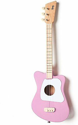 Loog Mini Acoustic Guitar for Children & Beginners - Pink