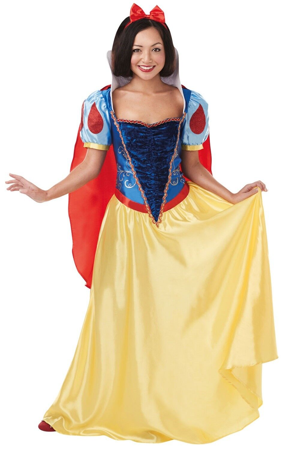 Ladies Official Full Long Length Snow White Book TV Fancy Dress Costume Outfit