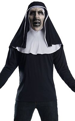 Herren Damen The Nonne Horror Film Halloween Gruslige Kostüm Kleid Outfit Satz