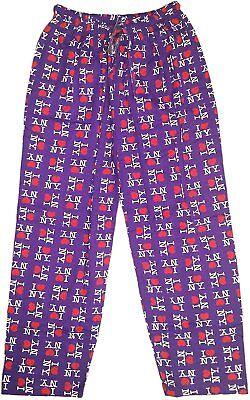 I Love NY Lounge Pants Purple Heart Pajama Novelty Bottoms](I Love Ny Pajamas)