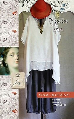 THE PHOEBE SHIRT & PANTS SEWING PATTERN, from Tina Givens, *NEW*