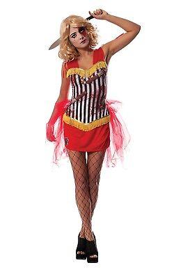 Damen Zirkus Horror Karneval Gruselig Bloody Halloween Kostüm UK 8-18 (Zirkus Kostüme Uk)