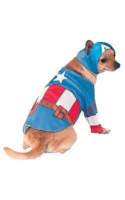 Rubies Marvel Captain America Comics Tv Haustier Hund Halloween Kostüm - Comic Hunde Kostüm