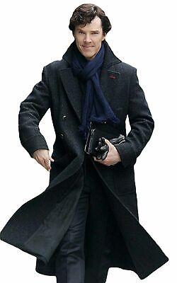 Sherlock Holmes Benedict Cumberbatch Wool Coat Black Woolen - Benedict Cumberbatch Kostüme