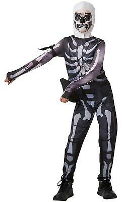 New Fortnite Skull Trooper Costume, Childs Tween Size Medium, 152 For - Tween Costumes For Halloween