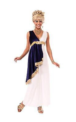 White and Navy Grecian Ladies Adult Costume, Small or STD, Rubies 810035 (Greek Lady Costume)