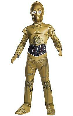 C-3PO Star Wars Classic Gold Droid Robot Fancy Dress Up Halloween Child Costume](Droid Costume)