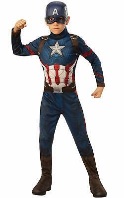 Captain America Avengers Endgame Marvel Fancy Dress Up Halloween Child Costume ()