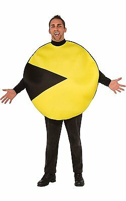 PAC-MAN COSTUME YELLOW STUFFABLE CLASSIC VIDEO GAME ADULT ONE SIZE HALLOWEEN (Adult Pac Man Costume)