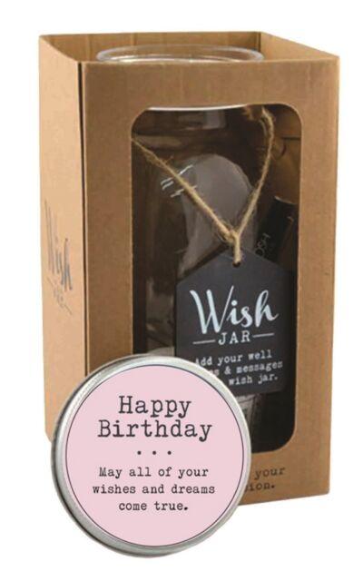 Splosh Glass Wish Jar Happy Birthday Party Guest Wishes & Pen Gift Set Celebrate
