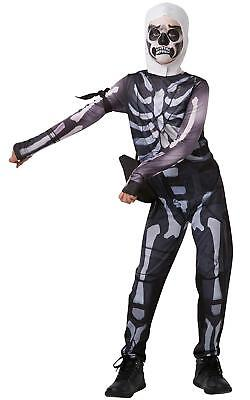 New Fortnite Skull Trooper Costume, Childs Tween Size Small, 140 For - Tween Costumes For Halloween