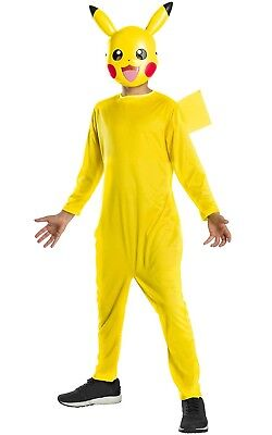Offiziell Jungen Mädchen Pikachu Pokemon Retro-Gaming Kostüm Kleid Outfit