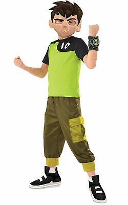 Ben Tennyson Ben 10 Cartoon Alien Force Fancy Dress Up Halloween Child Costume