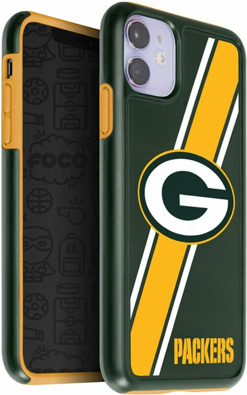 FOCO NFL Green Bay Packers Dual Hybrid Case for iPhone 11(6.1)