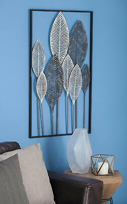 Contemporary Metal Wall Decor - Wall Decor 3D Metal Leaf Modern Contemporary Framed Hanging Art Fall Seasonal