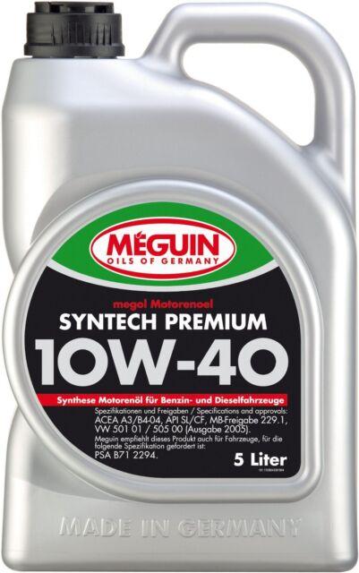 Meguin 4338 Megol Motorenoel Syntech Premium SAE 10W-40, 5 Liter