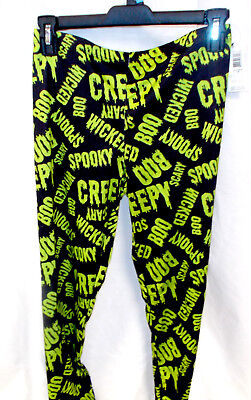 Scary Words Womens Leggings S M L XL NWT