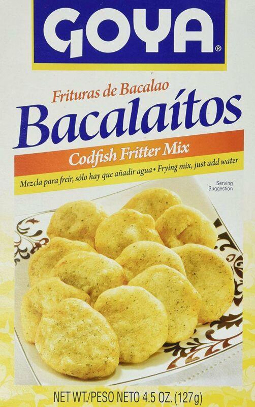 Goya Bacalaitos Codfish Fritter Mix, 4.5 oz - Pack of 2