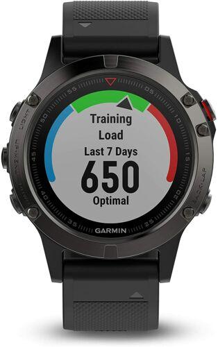 Garmin Fenix 5x 51mm Slate Gray Sapphire with Black Band GPS Watch New Open Box
