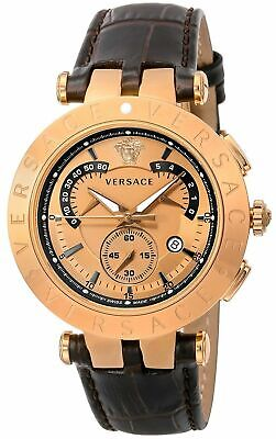 SALE VERSACE Quartz Men's Watch V-RACECHRONO Gold Dial 23C80D999S497