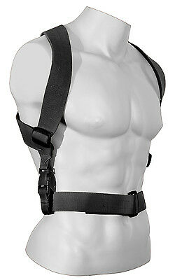 Combat Suspenders Tactical Adjustable Black Rothco 49196