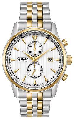 Citizen Eco-Drive Men's Corso Chronograph Two-Tone 43mm Wrist Watch CA7004-54A