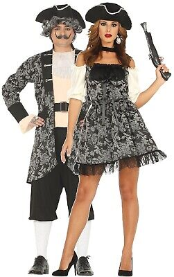 Couples Ladies AND Mens Baroque Pirate TV Book Film Fancy Dress Costumes Outfits - Womens Tv And Movie Halloween Costumes