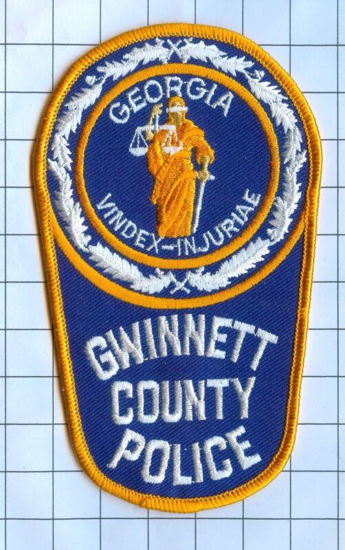 Police Patch  - Georgia - Gwinnet County