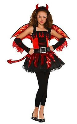 ck Teufel Fee + Wings Halloween Kostüm 12-16years (Teen Mädchen Teufel Kostüm)