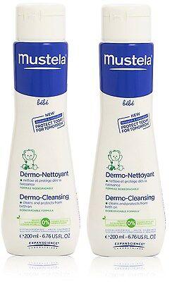 Mustela BeBe Dermo Cleansing Gel for Hair Body Baby Kids 200ml 6.76oz EX-07-2017 - Mustela Baby Dermo Cleansing